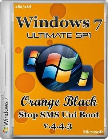 Windows 7 SP1 Ultimate 32bit+64bit OrBlack by Qmax v.4.4.3 (2014) Rus